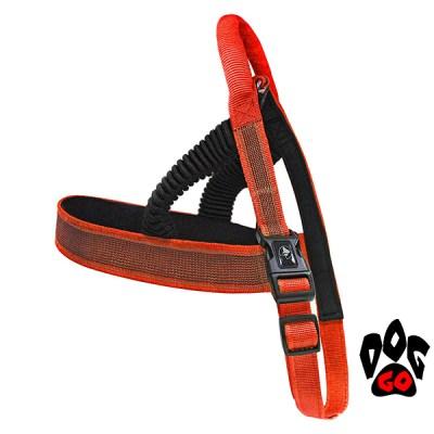 Шлея для собак CROCI HIKING ANTISHOCK регулируемая, нейлон, 1.5x(54-60см)-3.8x(90-100см) оранжевый