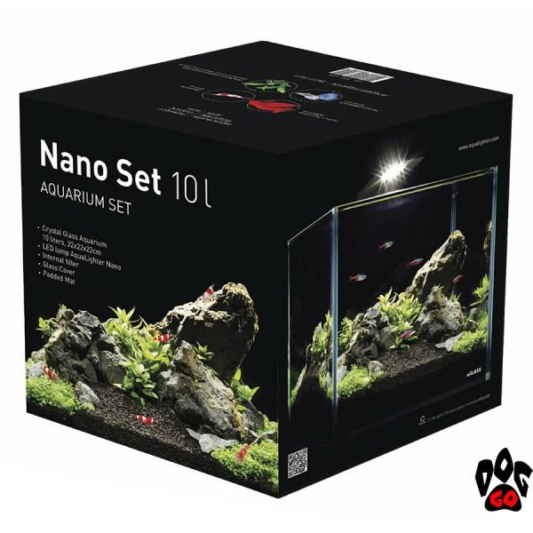 """Аквариумный набор COLLAR """"Nano Set"""" 10л(аквариум, стекло, светильник, фильтр, подложка)"""