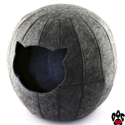 """Домик для кошки """"Digitalwool"""" Шар с подушкой 25x37x35 см"""