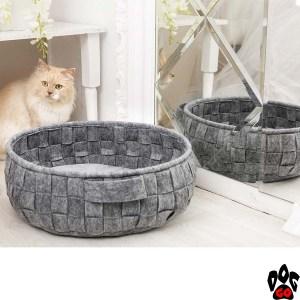 "Плетёный лежак для кошки ""Digitalwool"" Корзинка без подушки 45x44x15 см"