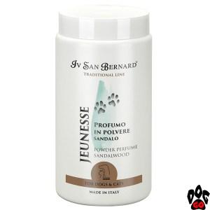 "Духи для собак IV SAN BERNARD ""Jeunesse"" парфюм-пудра с ароматом сандалового дерева, 80 г"