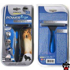 """Фурминатор для длинношерстных собак крупных пород CROCI """"POWERfur"""" L (более 24 кг) 9.8 см"""