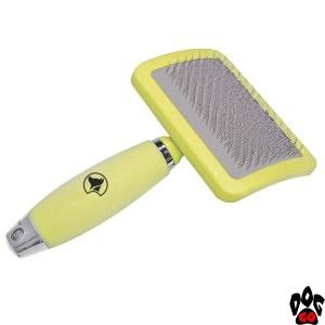 """Пуходерка для собак CROCI """"Glam Gel"""" большая, с силиконовой ручкой, 11,5х20 см"""