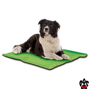 Охлаждающий коврик для собак CROCI, с антикомариной пропиткой (эвкалипт/лемонграс) зелёный