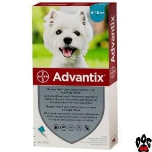Адвантикс для собак 4-10 кг BAYER от блох и клещей (цена за 1 пипетку)