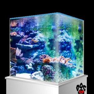 Морской нано-аквариум на 90 литров AMTRA NANOTANK, панорамный (45x45x45 см), с крышкой, стекло 6 мм
