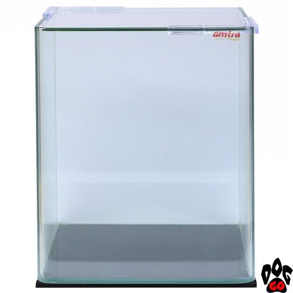 Панорамный аквариум AMTRA NANOTANK 20 на 18 литров (25x25x30 см), стекло 5 мм (с крышкой)