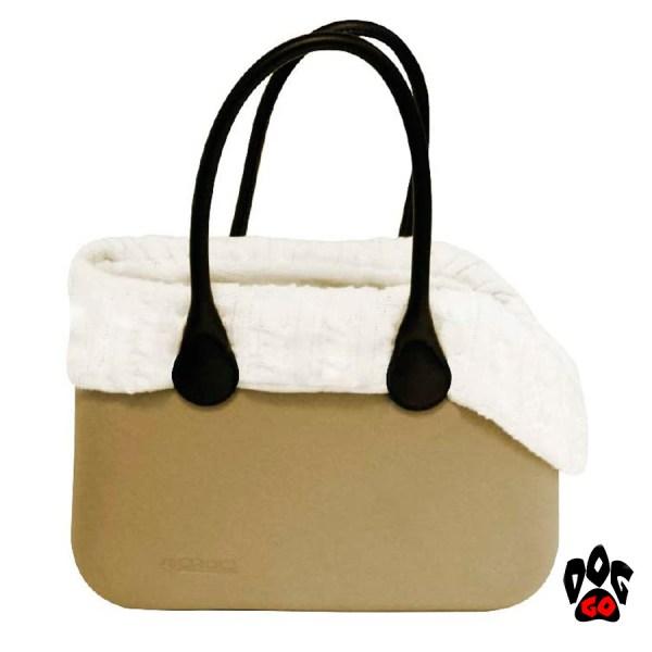 Теплая сумка для собак CROCI Warmer, ПВХ и искусственный плюш, 40х28х20см-1