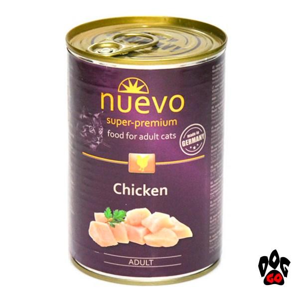 Консервы для кошек NUEVO ADULT с курицей, 400 г - 2