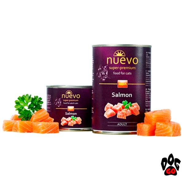 Консервы для кошек NUEVO ADULT Salmon с лососем, 400 г