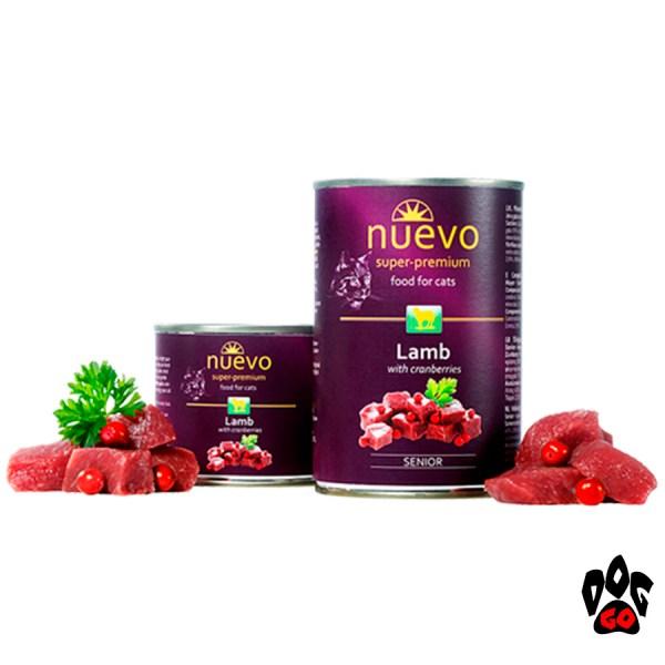 Консервы для пожилых кошек NUEVO SENIOR с ягненком и клюквой, 400 г