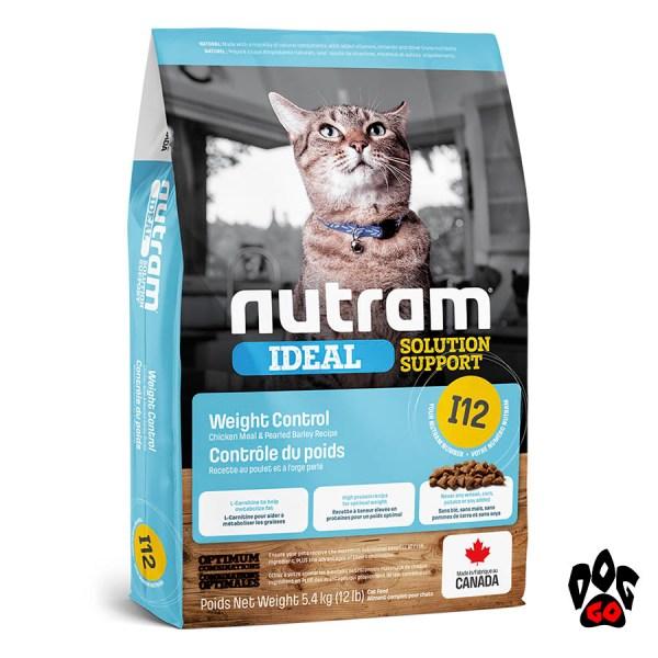 Диетический корм для кошек с ожирением Nutram Ideal I12 с курицей и лососем 1.13 кг