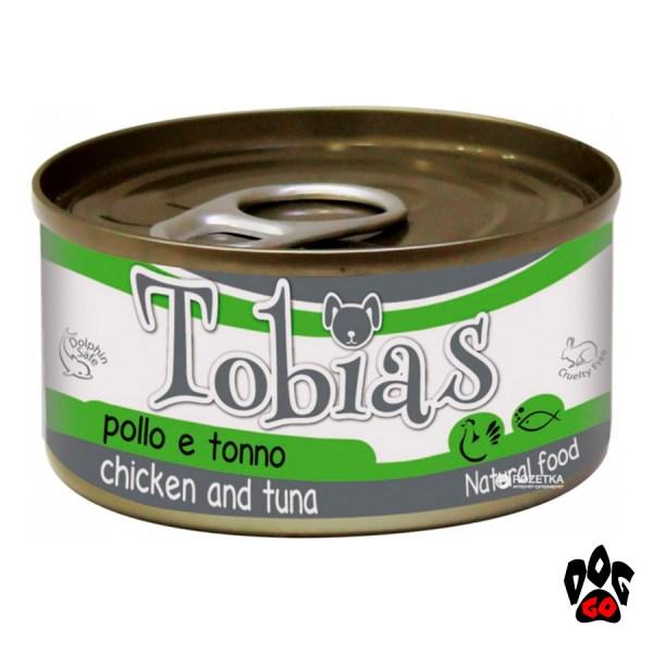 Конcервы для собак TOBIAS CROCI, курица+тунец, 85 г