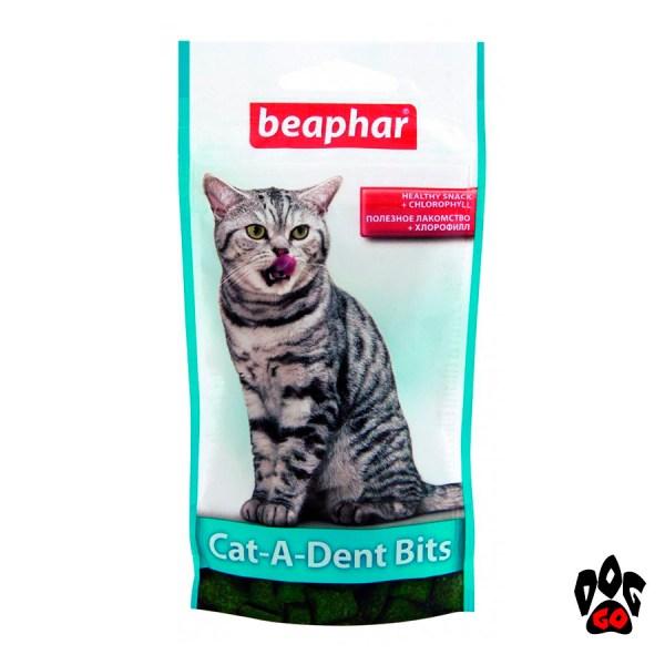 Лакомства для кошек BEAPHAR Cat-a-Dent Bits для чистки зубов, 35 г