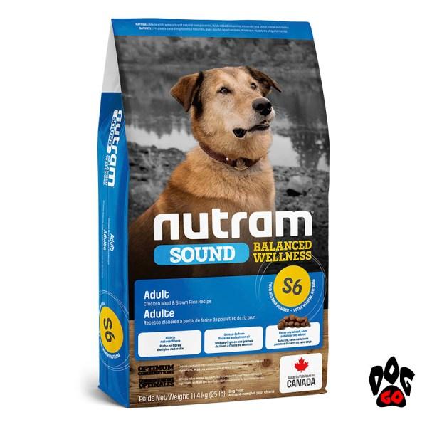 Нутрам для собак Sound Balanced Wellness S6, холистик для пищеварения, с курицей 11.4 кг