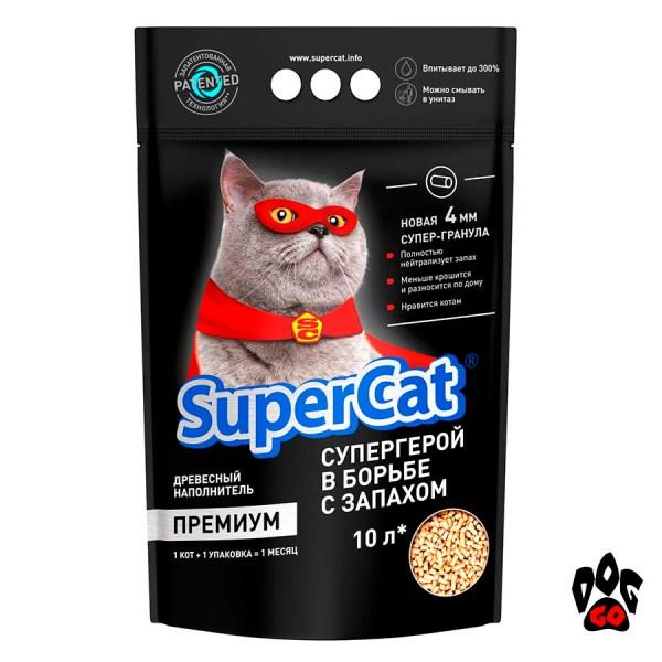 Super Cat Премиум 15 кг, древесный наполнитель COLLAR