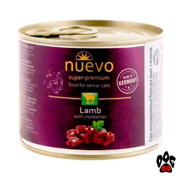 Корм для кошек Нуэво SENIOR с ягненком и клюквой (для пожилых) 200 г