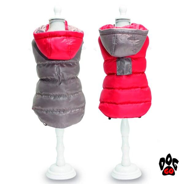CROCI Куртки для собак двухсторонние TWOSIDES GREY, RED-2