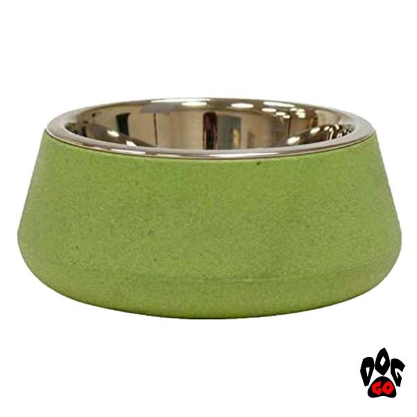 Бамбуковая миска для собак, нержавейка CROCI Bamboo-3