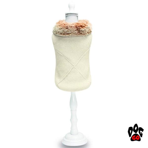 CROCI Вязаная кофта для собаки MADEMOISELLE, с мехом-1