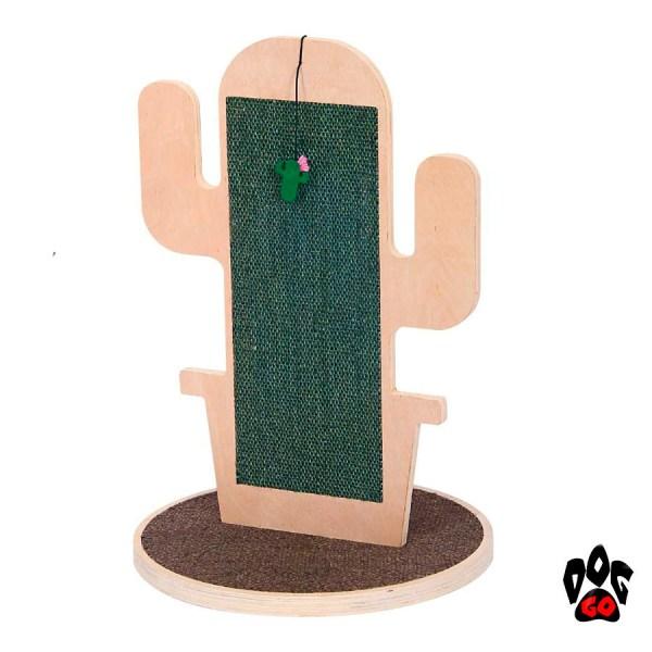 Плоская когтеточка Кактус CROCI, фанера, 40х60см-1