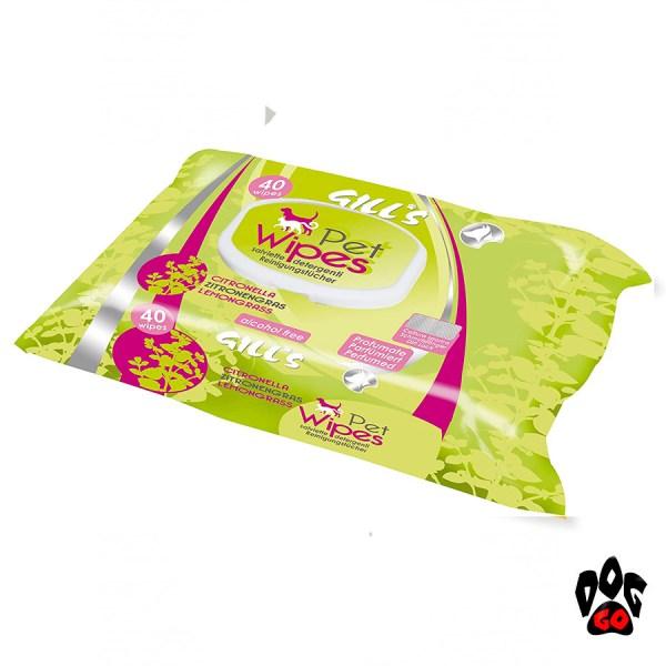 Влажные салфетки для собак и котов CROCI GILL'S гигиенические, 40шт в уп-3