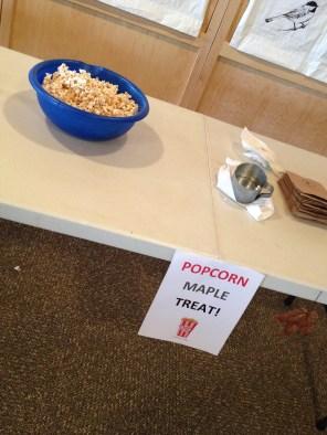 Maple syrup popcorn.