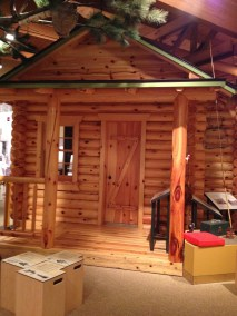 A sample log house