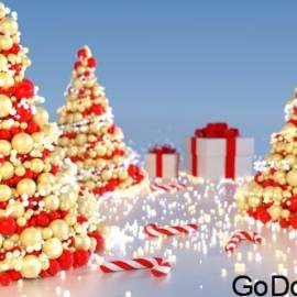 VideoHive Abstract Christmas Tree (5 versions) Free Download