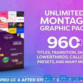 Videohive Montage Graphic Pack / Titles / Transitions / Lower Thirds and more V7 23449895