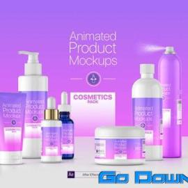 Videohive Animated Product Mockups Cosmetics Pack Free Download
