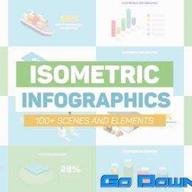 Videohive Isometric Infographics Free Download