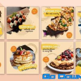 Videohive Food Social Post V14 Free Download