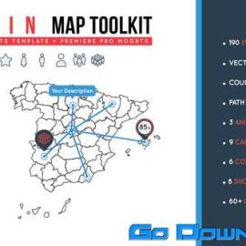 Videohive Spain Map Toolkit Free Download