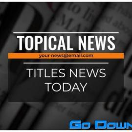 Videohive Titles News Free Download