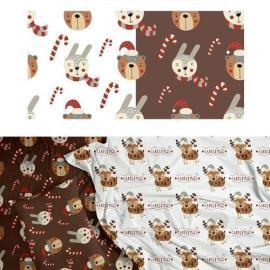 CreativeMarket Christmas seamless pattern set 5648919 Free Download