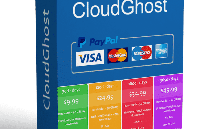 Buy CloudGhost Membership with no extra fee!