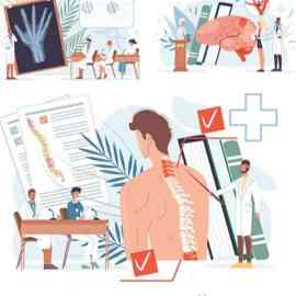 Cartoon heroes flat doctor at work and therapy concepts Free Download