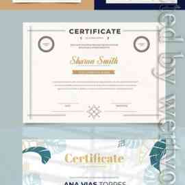 Diplomas and certificates in vector Free Download