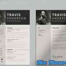 Simple CV Resume & Cover Letter Template Free Download