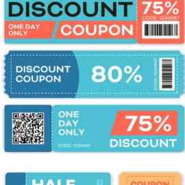 Special Offers and Promo Vouchers Vector Templates Set Free Download