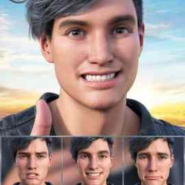 New Faces Expressions for Genesis 8.1 Male and Michael 8.1 Free Download