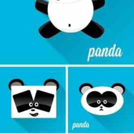 Stock Vectors Cartoon panda icon Free Download