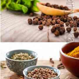 Various spices in various dishes stock photo Free Download