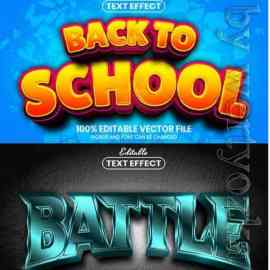 3d editable text style effect vector vol 619 Free Download
