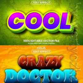 3d editable text style effect vector vol 621 Free Download