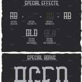 Vintage Classic Look Label Typeface 1638318 Free Download