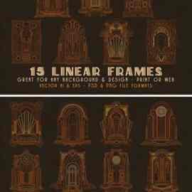 30 ArtDeco Line & Shape Frames Free Download