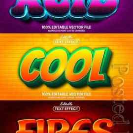 3d editable text style effect vector vol 845 Free Download