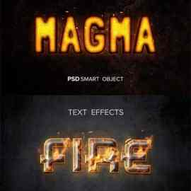 8 Fire Text Effects Templates for Photoshop Free Download